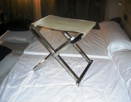 Maletero hotel acero inoxidable