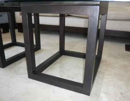 Mesa acero decoración