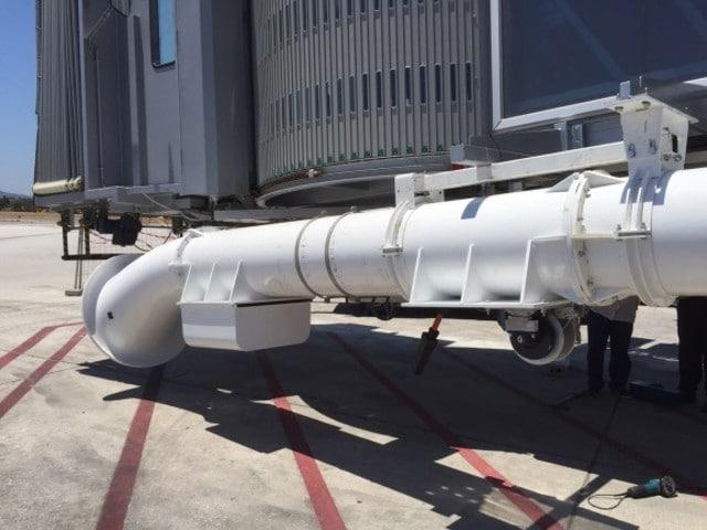 Recogedor de manguera de aire acondicionado aeronave
